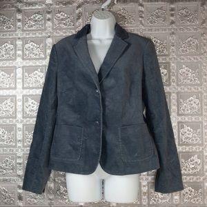 TALBOTS Dusty Blue Button Front Blazer Size 12